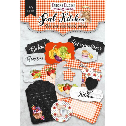 Set of die cuts - Fabrika Decoru - Soul Kitchen - 50 pcs