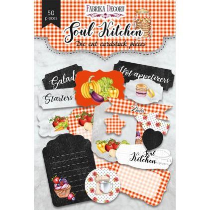 Zestaw papierowych kształtów - Fabrika Decoru - Soul Kitchen - 50 części