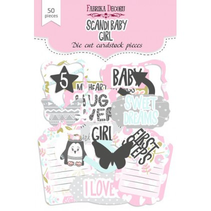 Set of die cuts - Fabrika Decoru - Scandi Baby Girl - 50 pcs