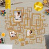 Set of frames - Fabrika Decoru - Craft with gold foiled - 50 pcs