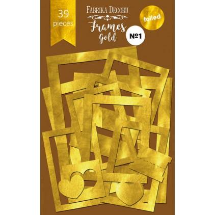 Zestaw papierowych ramek - Fabrika Decoru - złote 39 części