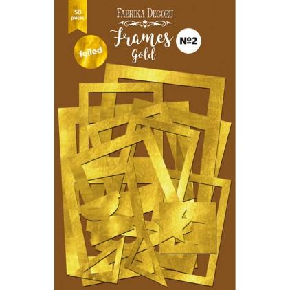 Zestaw papierowych ramek - Fabrika Decoru - złote - 50 części
