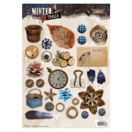 Die Cut Sheet LAbels - Studio Light - Winter Trails - EASYWT631