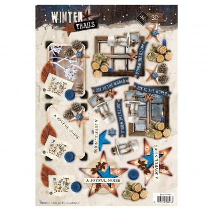Obrazki do budowania kompozycji 3D- Studio Light - Winter Trails - EASYWT630