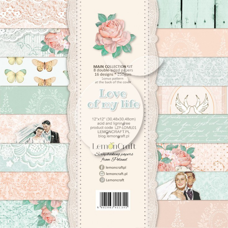 Set of scrapbooking papers - Love of my life