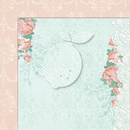 Double sided scrapbooking paper - Love of my life 01