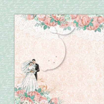 Double sided scrapbooking paper - Love of my life 04