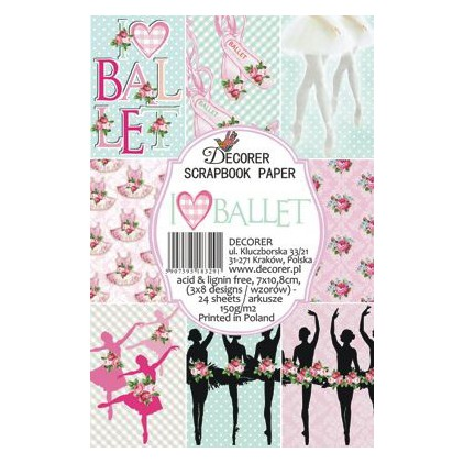 Decorer - Set of mini scrapbooking papers - Ballet