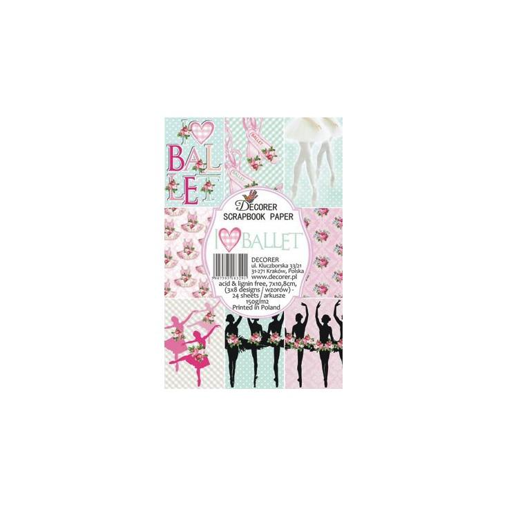 Decorer - Zestaw mini papierów do scrapbookingu - Balet