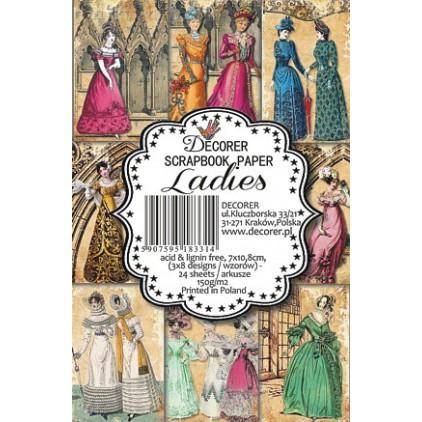Decorer - Set of mini scrapbooking papers - Ladies