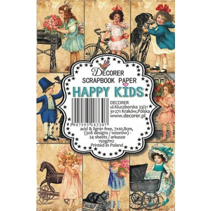 Decorer - Set of mini scrapbooking papers - Happy Kids