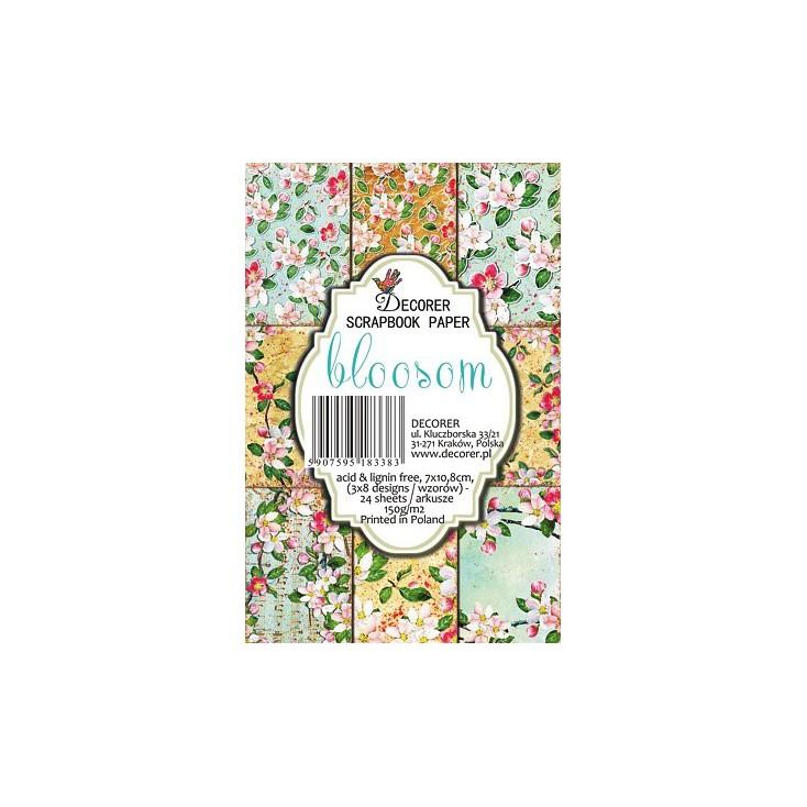 Set of mini scrapbooking papers - Decorer - Blossom