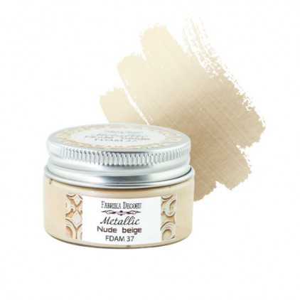 Metallic paint 37- Fabrika Decoru - nude beige - 30ml