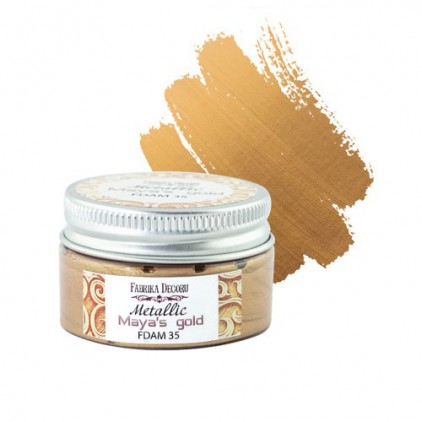 Metallic paint 35- Fabrika Decoru - Maya's gold - 30ml