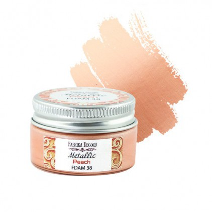 Metallic paint 3- Fabrika Decoru - peach - 30ml