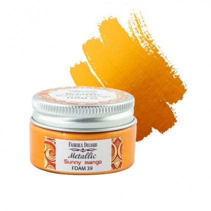 Farbka z efektem metalicznym 39 - Fabrika Decoru - słoneczne mango - 30ml