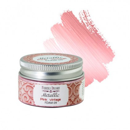 Metallic paint 09- Fabrika Decoru - pink vintage - 30ml