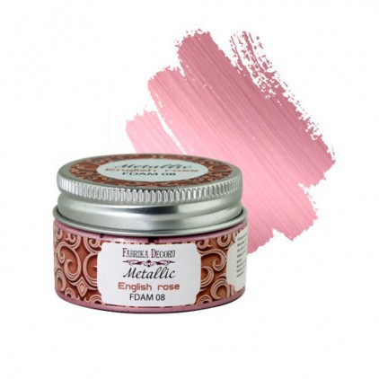 Metallic paint 08- Fabrika Decoru - English rose - 30ml