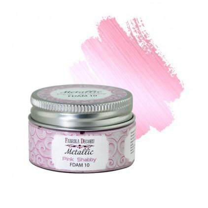 Metallic paint 10- Fabrika Decoru - pink shabby - 30ml