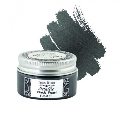 Farbka z efektem metalicznym 31 - Fabrika Decoru - czarna perła - 30ml