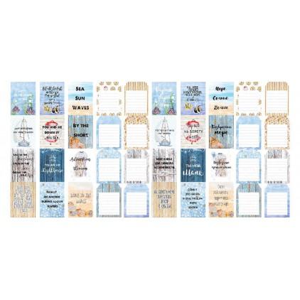 Papierowe paski do tworzenia kartek i scrapbookingu  - Fabrika Decoru - Sea Breeze - zestaw 5 pasków