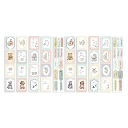 Scrapbooking paper- Fabrika Decoru -  Baby Shabby - Pictures for cutting 5 strips