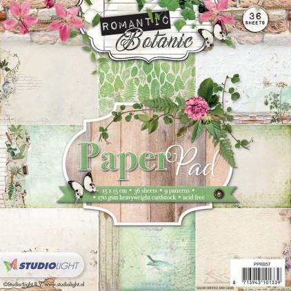 Mały bloczek papierów do scrapbookingu - Studio Light - Romantic Botanic - PPRB57