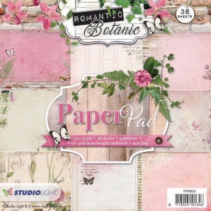 Mały bloczek papierów do scrapbookingu - Studio Light - Romantic Botanic - PPRB58