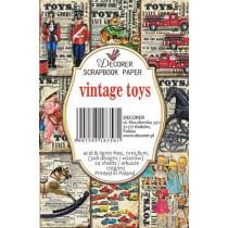 Decorer - Set of mini scrapbooking papers - Vintage toys
