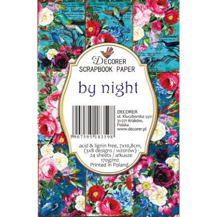 Decorer - Set of mini scrapbooking papers - by night