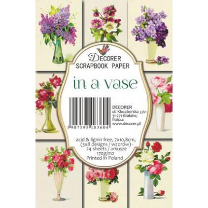Decorer - Zestaw mini papierów do scrapbookingu - in a vase