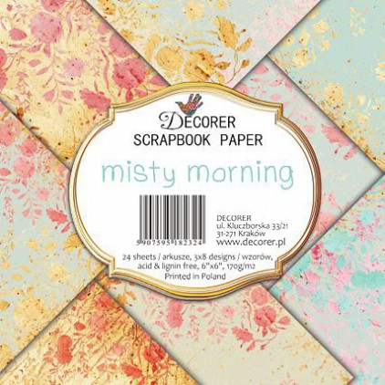 Decorer - Set of scrapbooking papers 15x15- misty morning