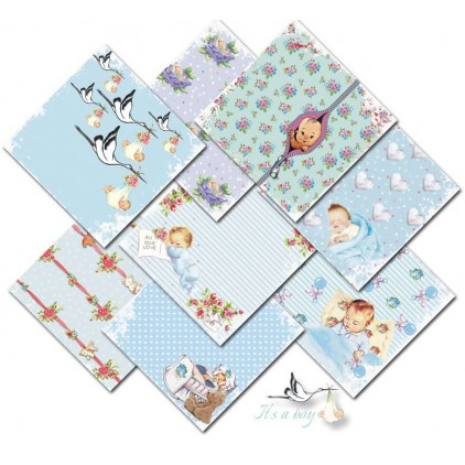 Decorer - Set of scrapbooking papers 15x15 - It's a boy