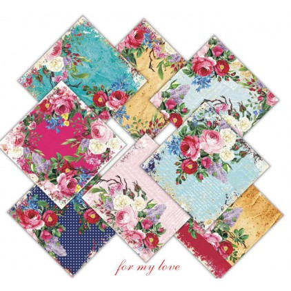Decorer - Zestaw papierów do scrapbookingu 15x15- for my love