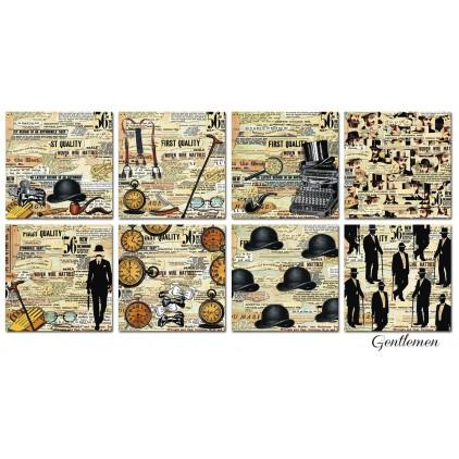 Decorer - Set of scrapbooking papers 15x15- Gentelmen