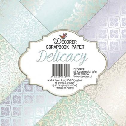 Decorer - Zestaw papierów do scrapbookingu 20x20- Delicacy