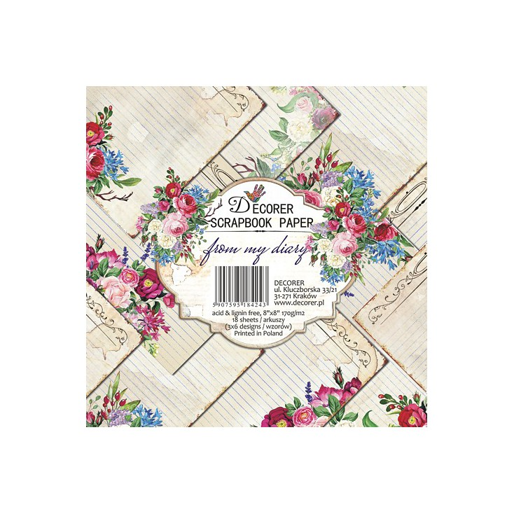 Decorer - Set of scrapbooking papers 20x20 - from my diary
