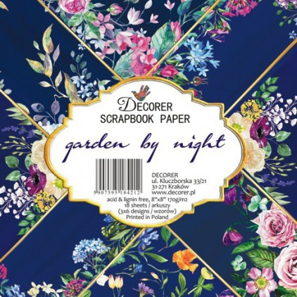 Decorer - Set of scrapbooking papers 20x20 - garden by night