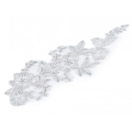 Lace application 34 - silver - 1 pcs.