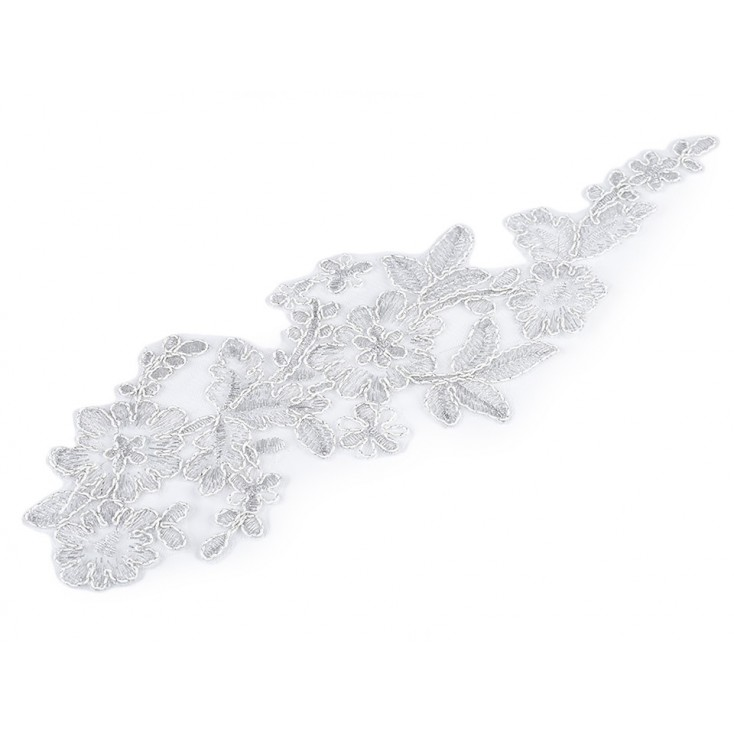 Lace application 34 - silver - 1 pcs.