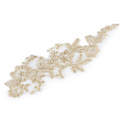 Lace application 34 - gold - 1 pcs.