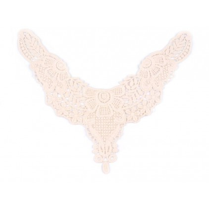 Lace applique cotton 681- light beige