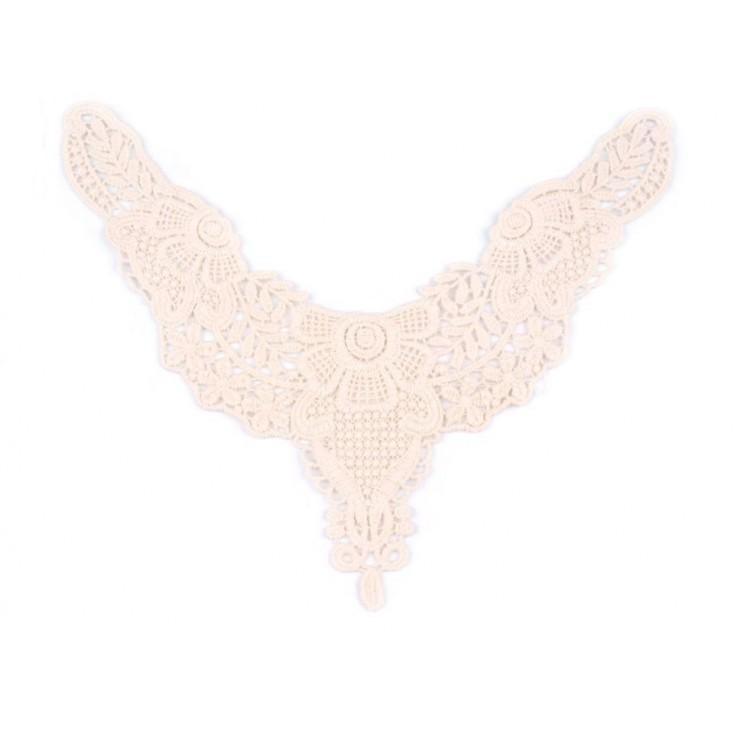 Lace applique cotton 681- light beige - 1 pc