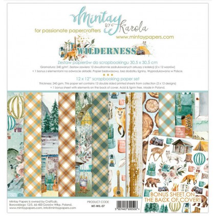 Scrapbooking paper set - Mintay Papers - Wilderness