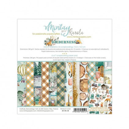 Scrapbooking paper pad - Mintay Papers - Wilderness