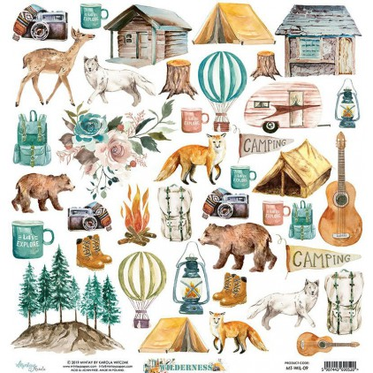 Scrapbooking paper - Mintay Papers - Wilderness 09