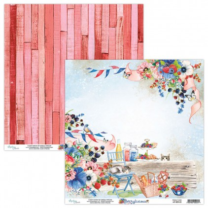 Scrapbooking paper - Mintay Papers - Berrylicious 03
