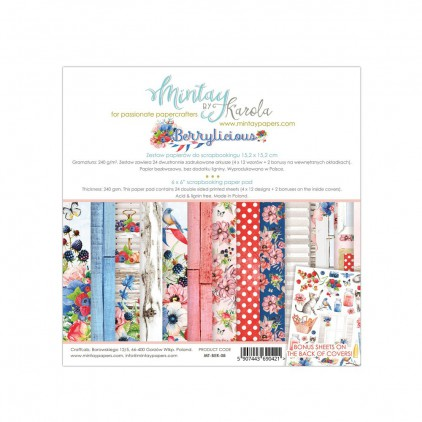Scrapbooking paper pad - Mintay Papers - Berrylicious