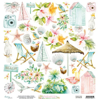 Scrapbooking paper - Mintay Papers - Paradise 09