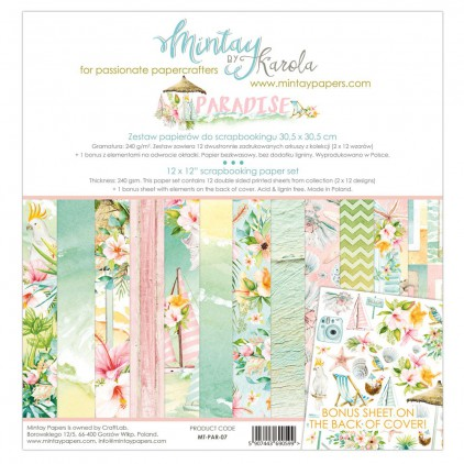 Scrapbooking paper set - Mintay Papers - Paradise